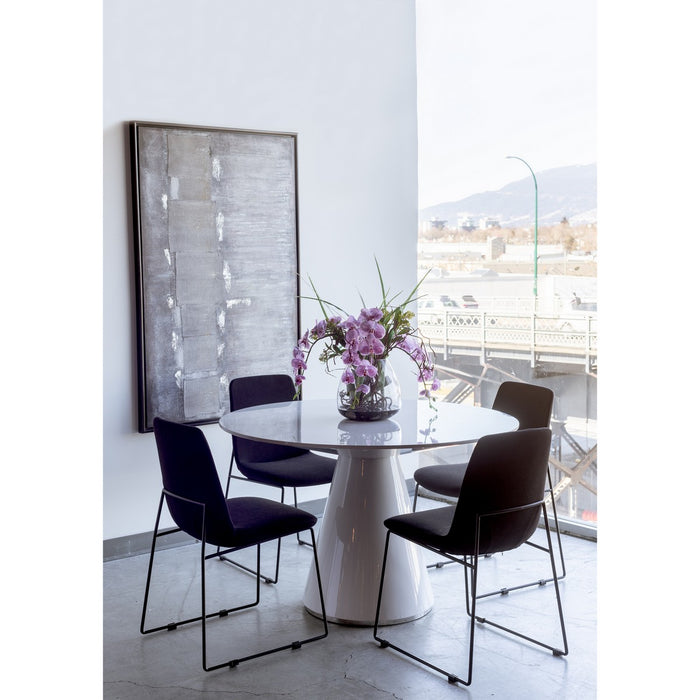 MOE'S HOME COLLECTION OTAGO DINING TABLE ROUND WHITE - KC-1028-18-Minimal & Modern