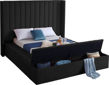 Meridian Furniture Kiki Black Velvet Full Bed (3 Boxes)
