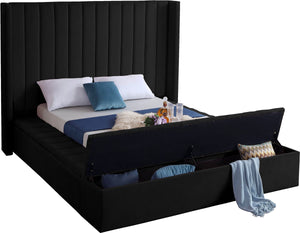 Meridian Furniture Kiki Black Velvet King Bed