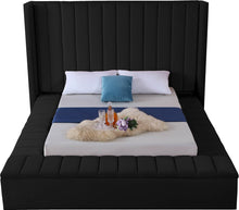 Meridian Furniture Kiki Black Velvet Queen Bed