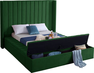 Meridian Furniture Kiki Green Velvet King Bed
