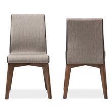 Baxton Studio Kimberly Mid-Century Modern Beige and Brown Fabric Dining Chair (Set of 2) Baxton Studio-dining chair-Minimal And Modern - 3