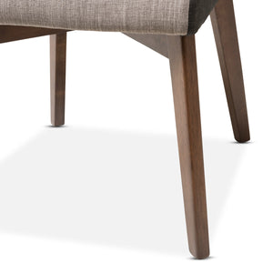 Baxton Studio Kimberly Mid-Century Modern Beige and Brown Fabric Dining Chair (Set of 2) Baxton Studio-dining chair-Minimal And Modern - 6