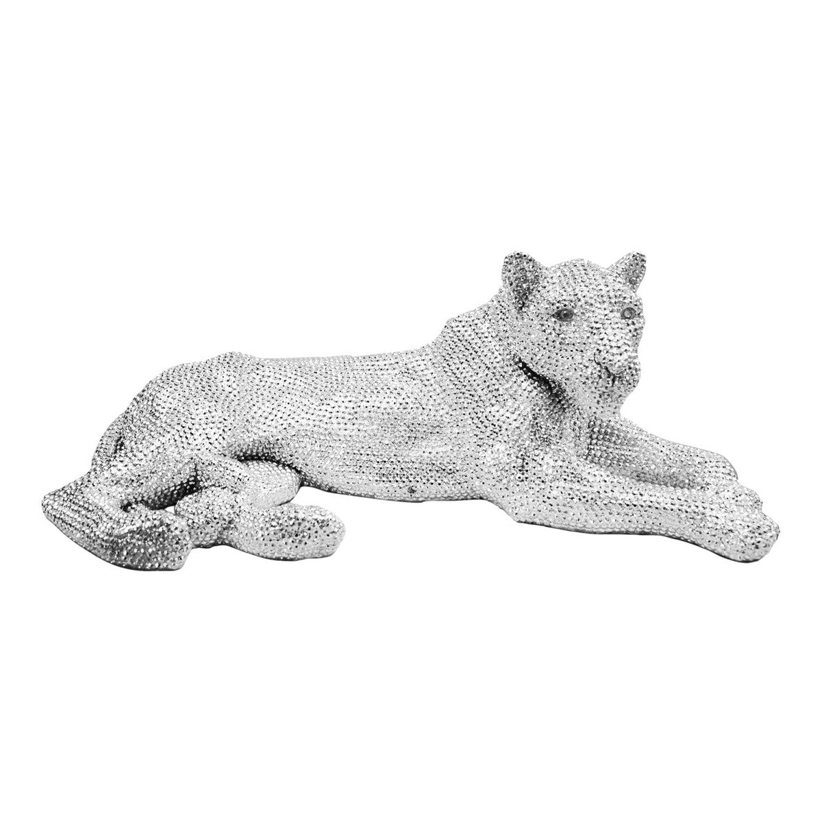 Moe's Home Collection Panthera Statue Silver - LA-1055-30 - Moe's Home Collection - Art - Minimal And Modern - 1