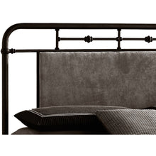 Baxton Studio Nashville Queen Size Antique Bronze Metal Platform Bed with Upholstered Headboard Baxton Studio-beds-Minimal And Modern - 2