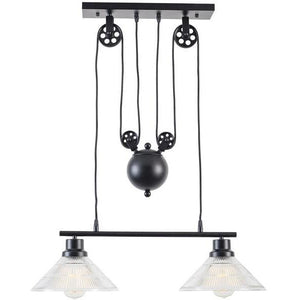 Edgemod Modern Technica 2-Light Pulley Island Pendant , Lighting - Edgemod Furniture, Minimal & Modern - 1