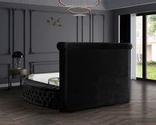 Meridian Furniture Luxus Black Velvet Full Bed (3 Boxes)