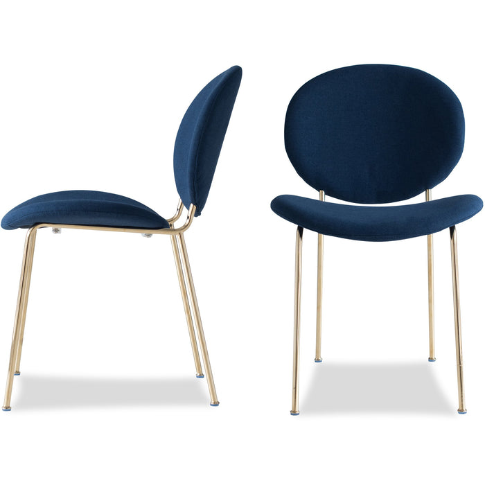 Edloe Finch Demi Dining Chair in Blue, Set of 2