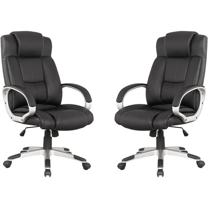 Manhattan Comfort Presidentential Washington Office Chair in Black - Set of 2Manhattan Comfort-Office Chair- - 1
