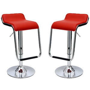 Manhattan Comfort Sophisticated Horatio Barstool with a Hanging Footrest in Red -Set of 2Manhattan Comfort-Barstools - - 1