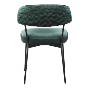 Moe's Home Collection Dolce Dining Chair Green Velvet-Set of Two - ME-1055-27