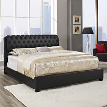 Modway Furniture Modern Black Francesca King Bed Frame MOD-5012-BLK-SET-Minimal & Modern