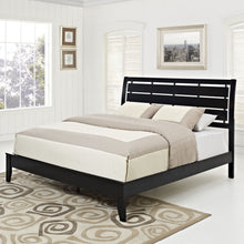 Modway Furniture Modern Black Olivia Queen Bed Frame MOD-5021-BLK-SET-Minimal & Modern