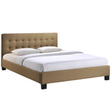 Modway Furniture Modern Caitlin Queen Fabric Bed Frame Latte, Beds - Modway Furniture, Minimal & Modern - 14