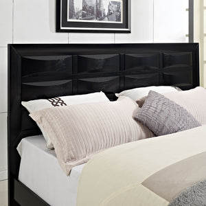 Modway Furniture Modern Harrison 3 Piece Queen Bedroom Set MOD-5074-BLK-SET-Minimal & Modern