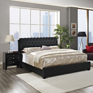 Modway Furniture Modern Francesca 2 Piece King Bedroom Set MOD-5082-BLK-SET-Minimal & Modern