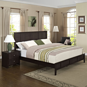 Modway Furniture Modern Holly 2 Piece Queen Bedroom Set MOD-5124-BLK-SET-Minimal & Modern