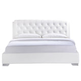 Modway Furniture Modern White Amelia Queen Vinyl Bed Frame , Beds - Modway Furniture, Minimal & Modern - 2