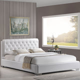 Modway Furniture Modern White Amelia Queen Vinyl Bed Frame , Beds - Modway Furniture, Minimal & Modern - 4
