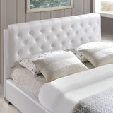 Modway Furniture Modern White Amelia Queen Vinyl Bed Frame , Beds - Modway Furniture, Minimal & Modern - 5