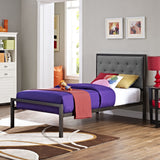 Modway Furniture Modern Mia Twin Fabric Bed Frame , Beds - Modway Furniture, Minimal & Modern - 7
