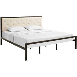 Modway Furniture Modern Mia King Fabric Bed Frame MOD-5184-Minimal & Modern