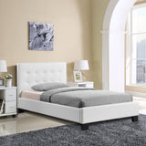 Modway Furniture Modern White Caitlin Twin Vinyl Bed Frame , Beds - Modway Furniture, Minimal & Modern - 6