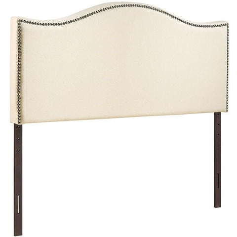 Modway Furniture Modern Curl Full Nailhead Upholstered Headboard Ivory, Headboards - Modway Furniture, Minimal & Modern - 1
