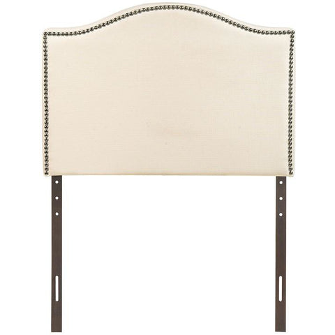 Modway Furniture Modern Curl Twin Nailhead Upholstered Headboard Ivory, Headboards - Modway Furniture, Minimal & Modern - 1