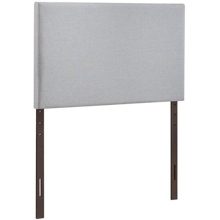 Modway Furniture Modern Region Twin Upholstered Headboard Sky Gray, Headboards - Modway Furniture, Minimal & Modern - 1