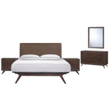 Modway Furniture Modern Tracy 5 Piece Queen Bedroom Set Cappuccino Brown, Bedroom Sets - Modway Furniture, Minimal & Modern - 10