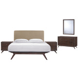 Modway Furniture Modern Tracy 5 Piece Queen Bedroom Set Cappuccino Latte, Bedroom Sets - Modway Furniture, Minimal & Modern - 15