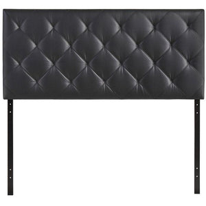 Modway Furniture Modern Theodore Full Vinyl Headboard in Black MOD-5314-BLK-Minimal & Modern