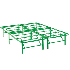 Modway Furniture Modern Horizon Full Stainless Steel Bed Frame-Minimal & Modern