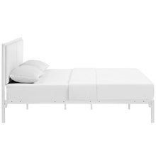 Modway Furniture Della Full Vinyl Bed In White White - MOD-5460-WHI-WHI-Minimal & Modern