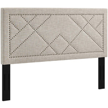 Modway Furniture Modern Reese Nailhead King and California King Upholstered Linen Fabric Headboard - MOD-5845