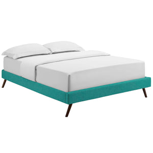 Modway Furniture Modern Loryn Full Fabric Bed Frame with Round Splayed Legs - MOD-5889