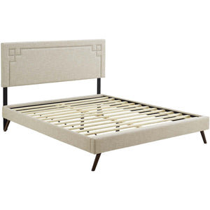 Modway Furniture Modern Ruthie Full Fabric Platform Bed with Round Splayed Legs - MOD-5929