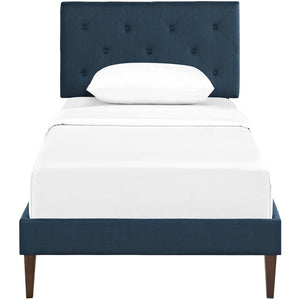 Modway Furniture Modern Tarah Twin Fabric Platform Bed with Squared Tapered Legs - MOD-5983-Minimal & Modern