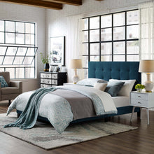 Modway Furniture Modern Melanie King Tufted Button Upholstered Fabric Platform Bed - MOD-5994