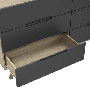 Modway Furniture Modern Origin Six-Drawer Wood Dresser or Display Stand - MOD-6076