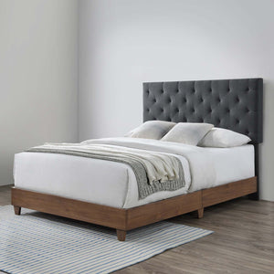 Modway Furniture Modern Rhiannon Diamond Tufted Upholstered Fabric Queen Bed - MOD-6146