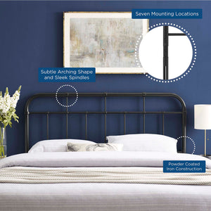 Modway Furniture Modern Alessia King Metal Headboard - MOD-6163