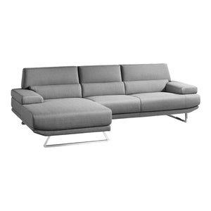 Moe's Home Collection Jenn Sectional Grey Left - MT-1001-25-L