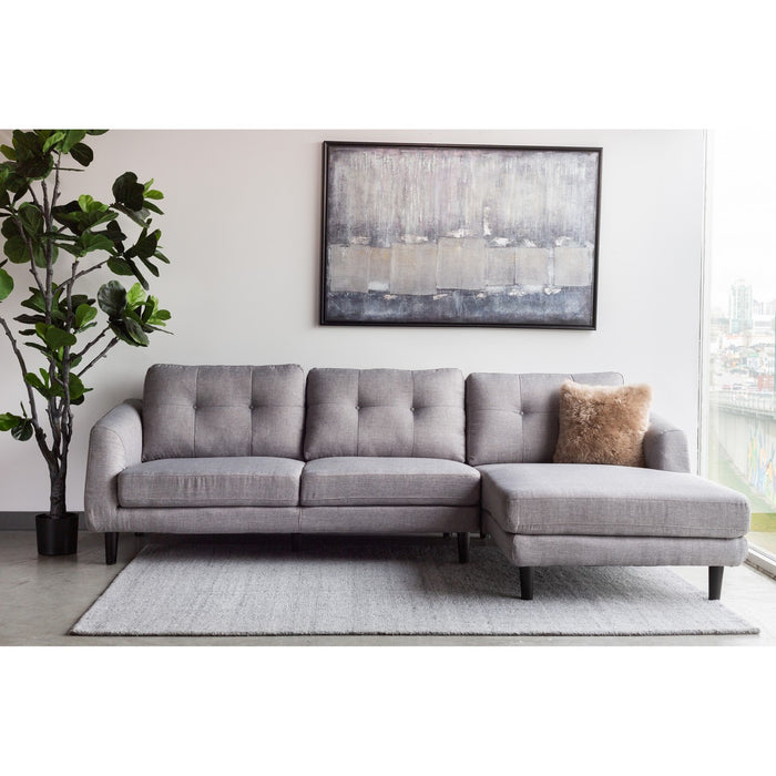 MOE'S HOME COLLECTION COREY SECTIONAL DARK GREY RIGHT - MT-1002-25-R-Minimal & Modern