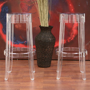 Baxton Studio Bettino Acrylic Barstool (Set of 2) Baxton Studio-Bar Stools-Minimal And Modern - 2