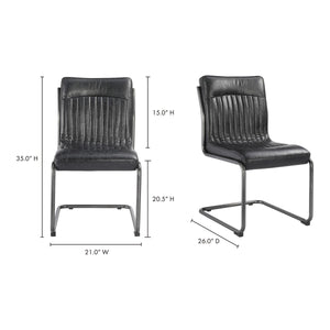 Moe's Home Collection Ansel Dining Chair Black-Set of Two - PK-1043-02