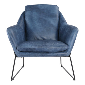 Moe's Home Collection Greer Club Chair Blue - PK-1056-19 - Moe's Home Collection - lounge chairs - Minimal And Modern - 1