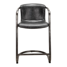 Moe's Home Collection Freeman Counter Stool Antique Black-Set of Two - PK-1061-02 - Moe's Home Collection - Counter Stools - Minimal And Modern - 1