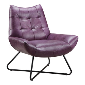 Moe's Home Collection Graduate Lounge Chair Purple - PK-1063-10